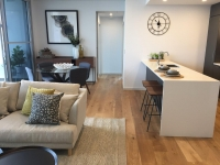 Apartment Staging - Living Room, Kitchen and Dining