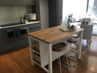Kitchen with an Island Bench