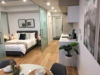 Studio Apartment Bedroom & Kitchen